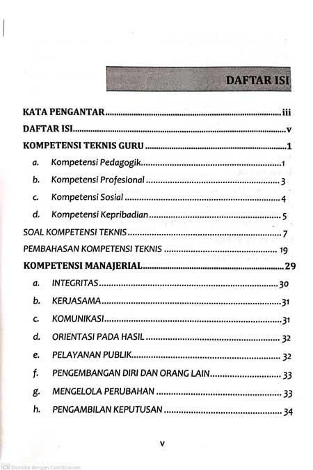Daftar isi Buku PPPK 2021 Halaman 1